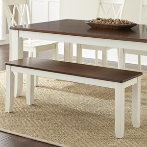 Cottage Style Two-Tone Bench
