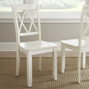 Cottage Style Side Chair with Lattice Back