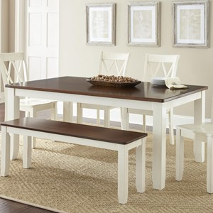 Cottage Style Two-Tone Table