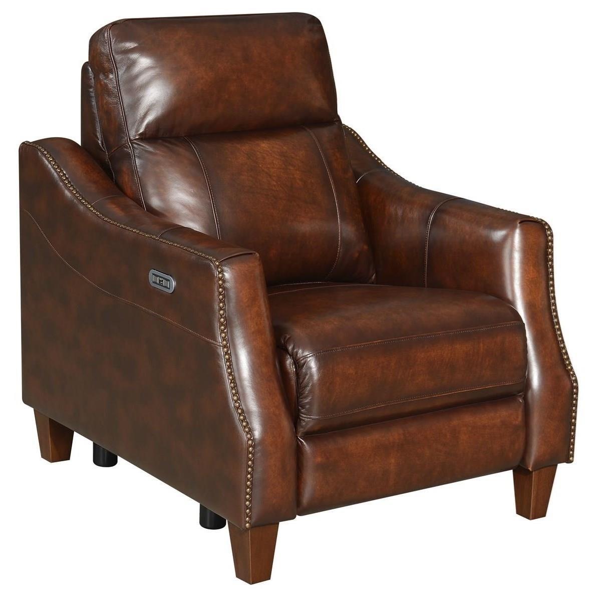 Akari Dual-Power Recliner Chair by Steve Silver at Van Hill Furniture