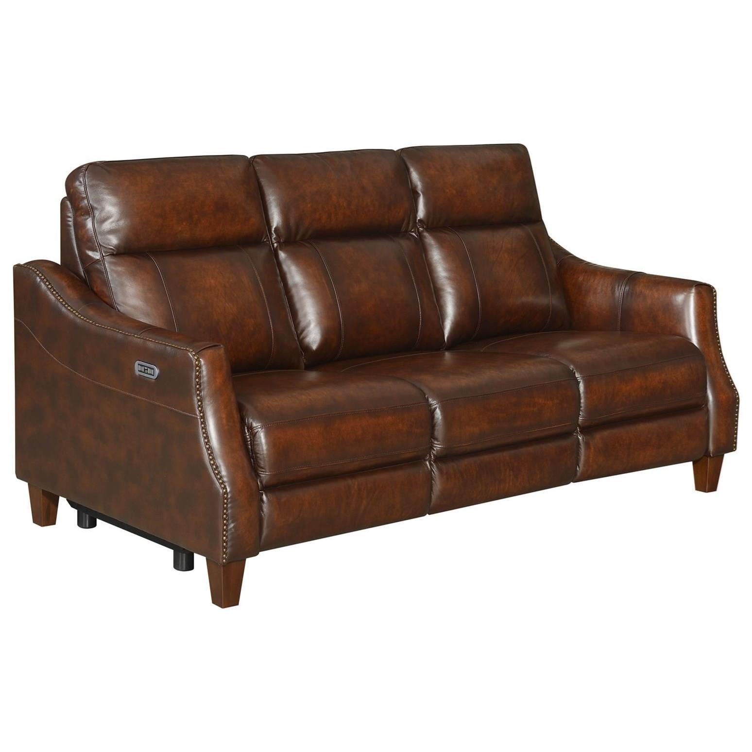 Akari Dual-Power Recliner Sofa by Steve Silver at Standard Furniture