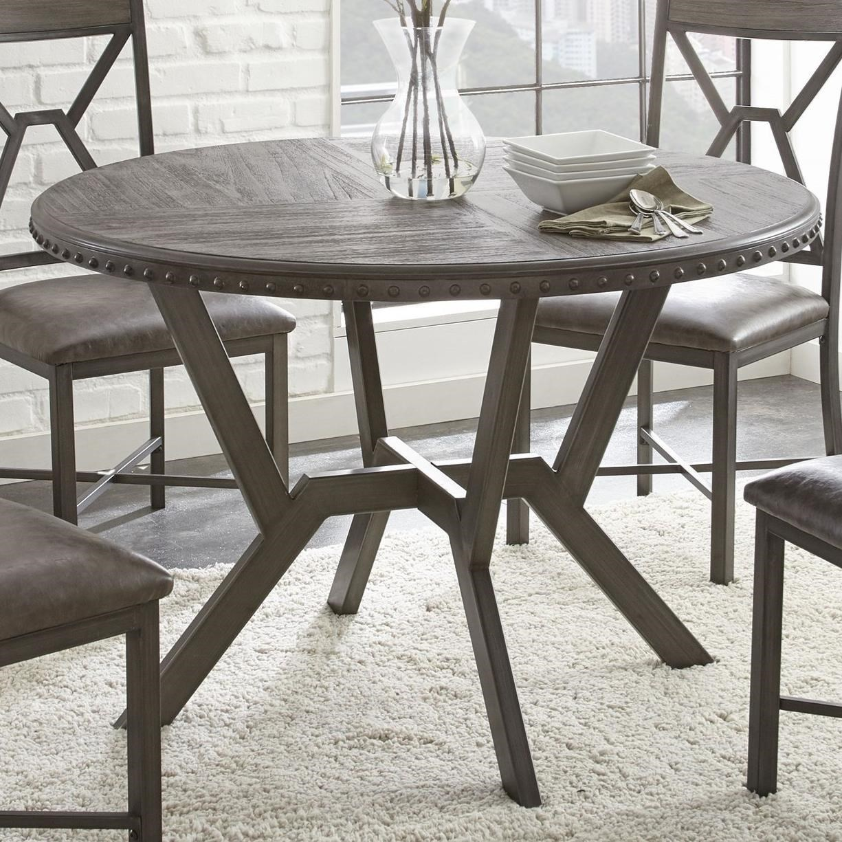 Alamo Round Dining Table by Steve Silver at Walker's Furniture