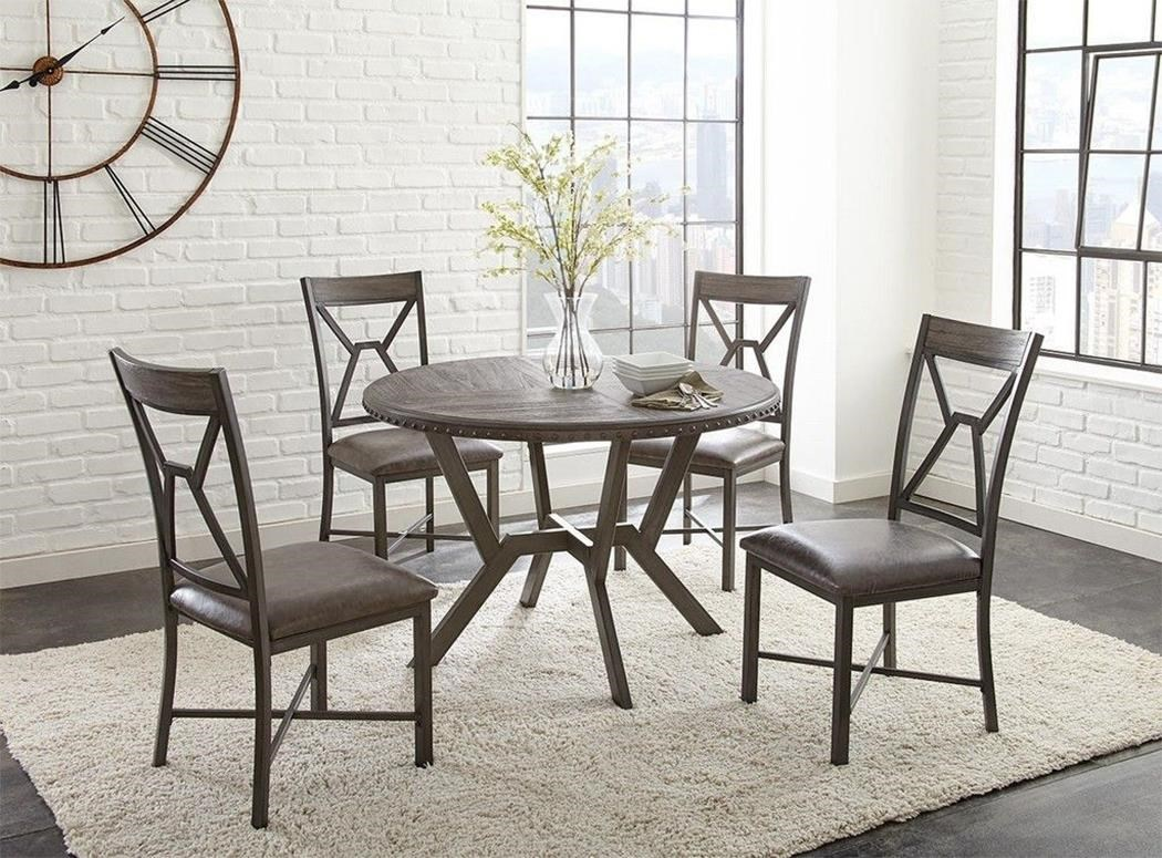 Alton 5PC Pedestal Dining Table & Chair Set at Rotmans
