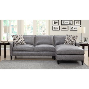 Contemporary Two Piece Sectional with Chaise