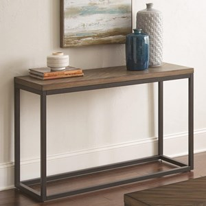 Industrial Sofa Table with Diamond Veneer Top