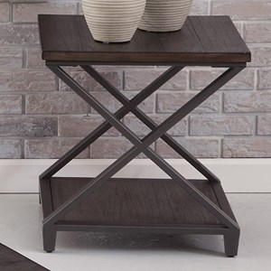 End Table with Open Bottom Shelf