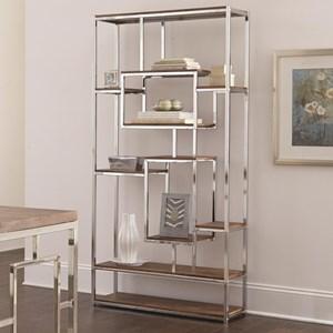 Contemporary Book Shelf with Chrome Frame