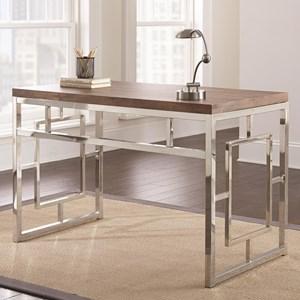Contemporary Desk with Chrome Base