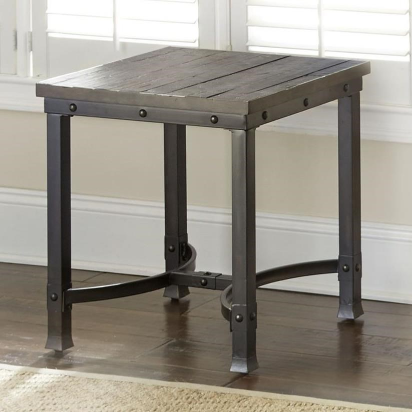 Ambrose Industrial Square End Table by Star at EFO Furniture Outlet
