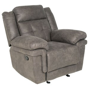 Glider Reclining Chair with Tufted Back