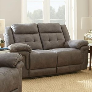 Reclining Love Seat with Tufted Back