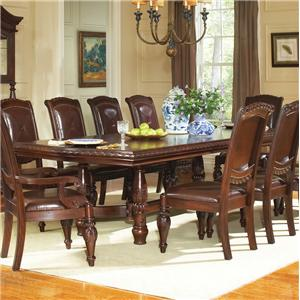 "Traditional Rectangular Dining Table with 24"" Leaf"
