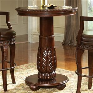 "33"" Traditional Round Pedestal Pub Table"