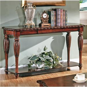Traditional 1-Shelf 1-Drawer Sofa Table