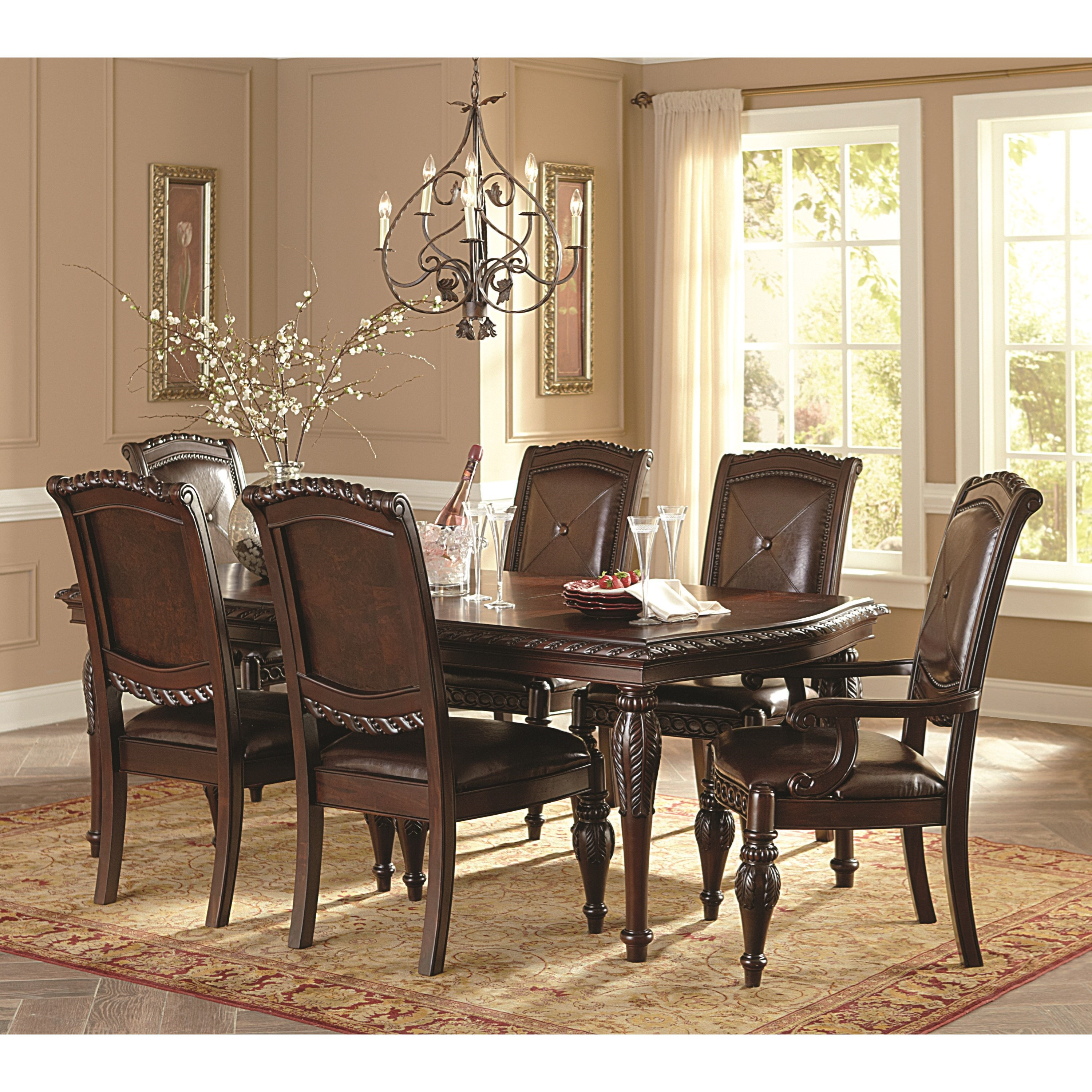 Antoinette 7-Piece Dining Table & Chair Set by Steve Silver at Walker's Furniture