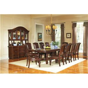 11-Piece Traditional Dining Table & Chair Set