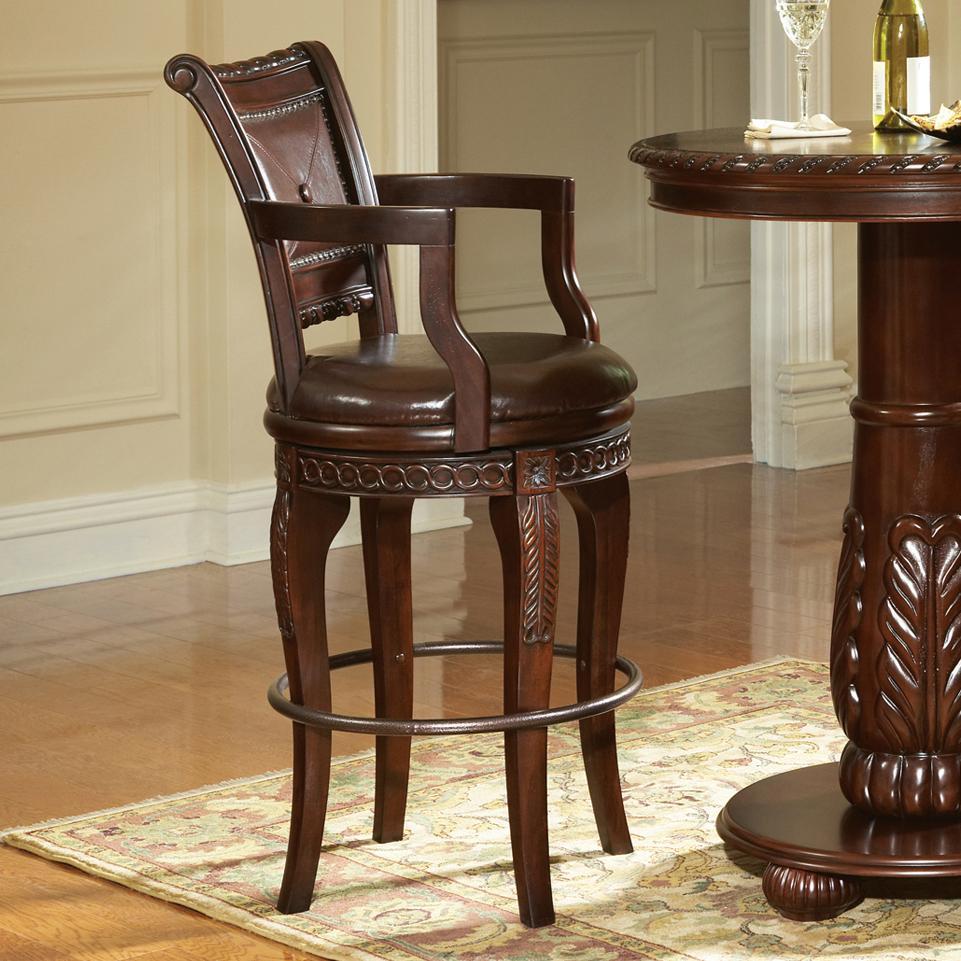Antoinette Swivel Bar Chair by Steve Silver at Walker's Furniture