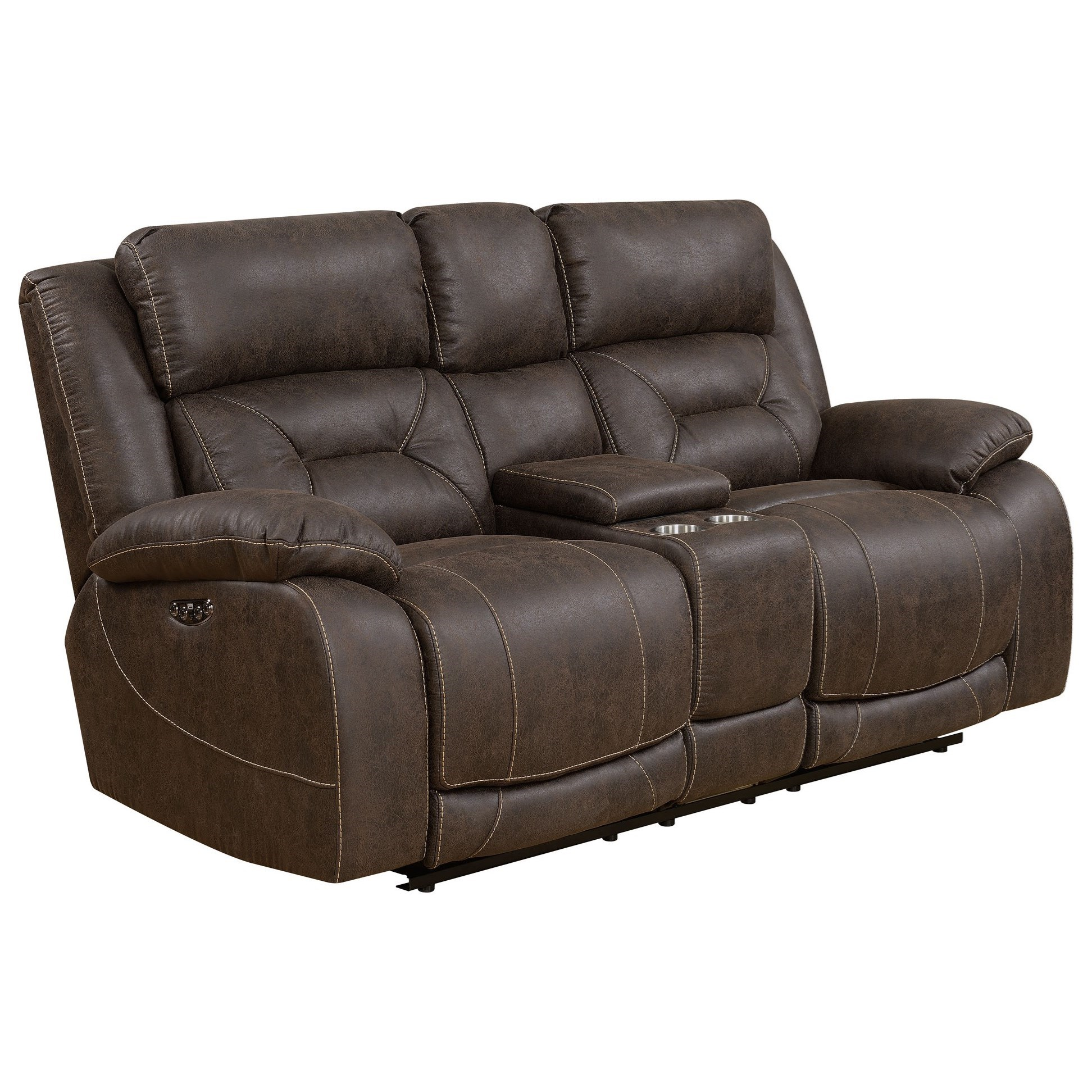 Aria Power Reclining Loveseat by Steve Silver at Nassau Furniture and Mattress