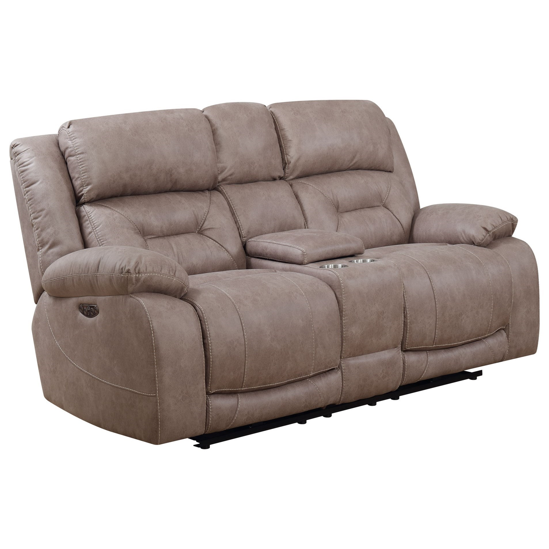 Aria Power Reclining Loveseat by Star at EFO Furniture Outlet