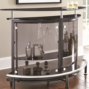 Demilune Bar Table/Server with Footrest