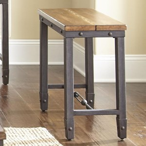 Industrial Chairside End Table