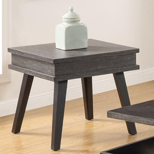 Contemporary End Table with Splayed Legs