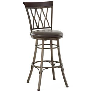 Swivel Bar Stool with X Back