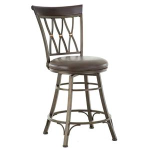 Swivel Counter Stool with X Back