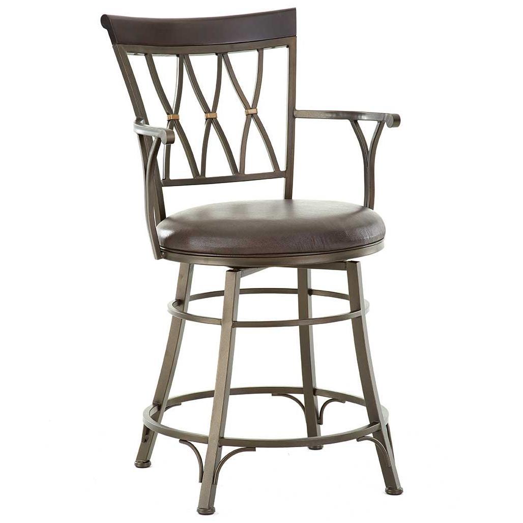 Bali Jumbo Swivel Counter Chair by Steve Silver at Walker's Furniture