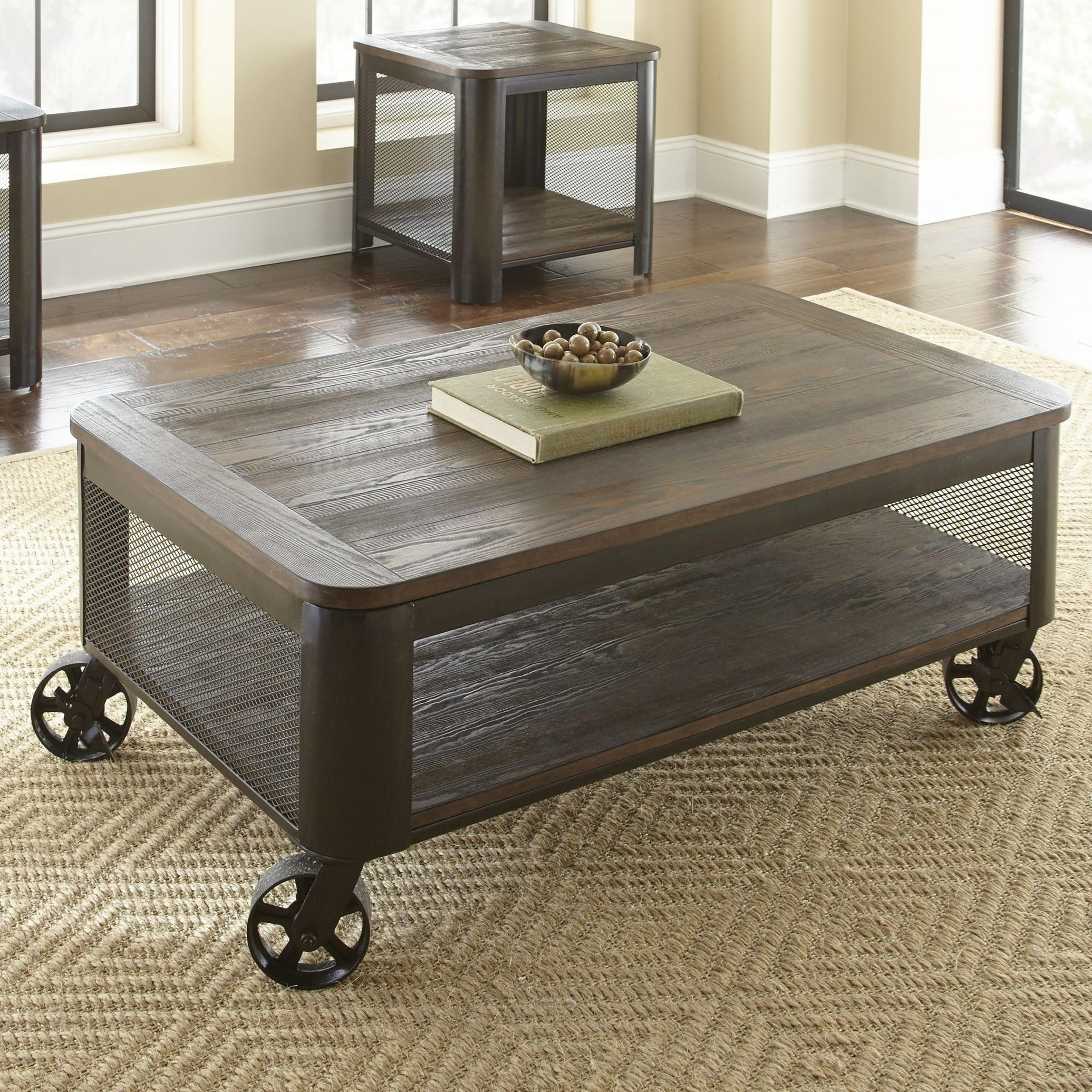 Barrow Lift Top Cocktail Table with Casters by Steve Silver at Walker's Furniture