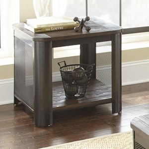 End Table with Wire Mesh Sides