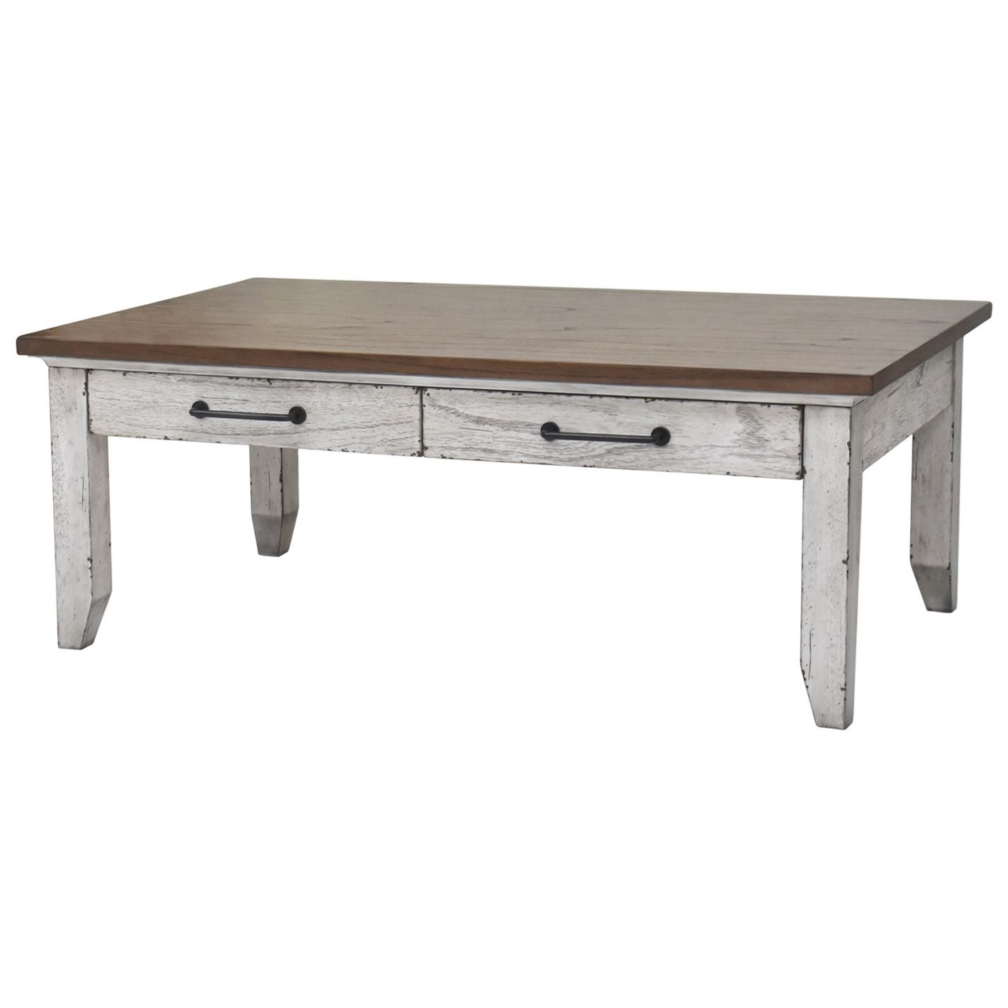 Bear Creek Cocktail Table by Steve Silver at Van Hill Furniture