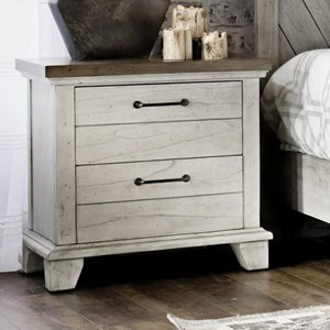 Farmhouse Two-Drawer Nightstand