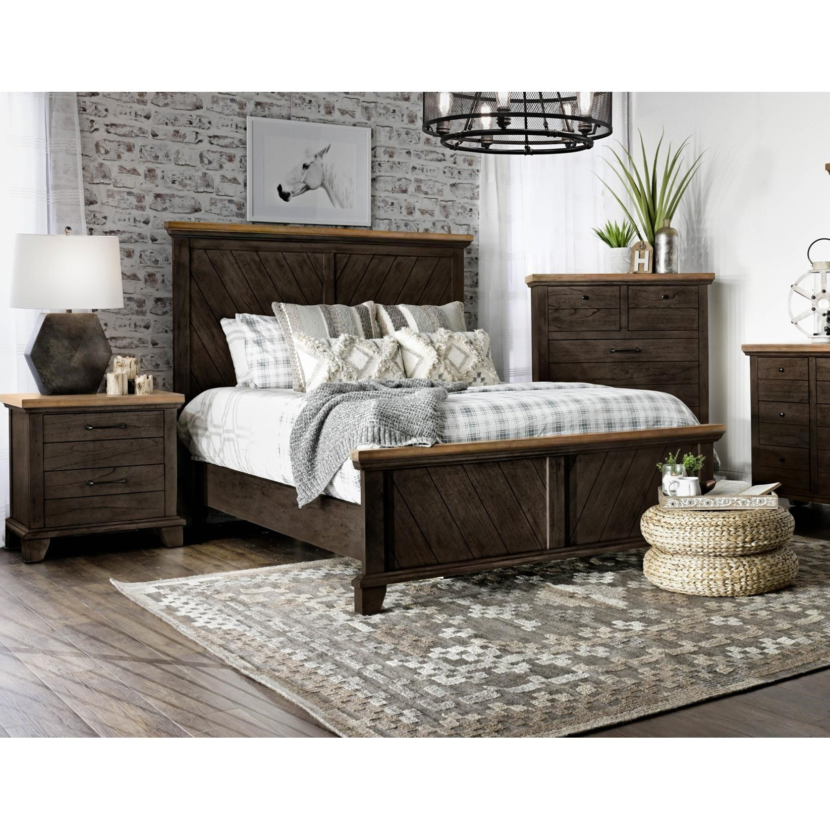 Bear Creek Queen Bedroom Group by Steve Silver at Van Hill Furniture