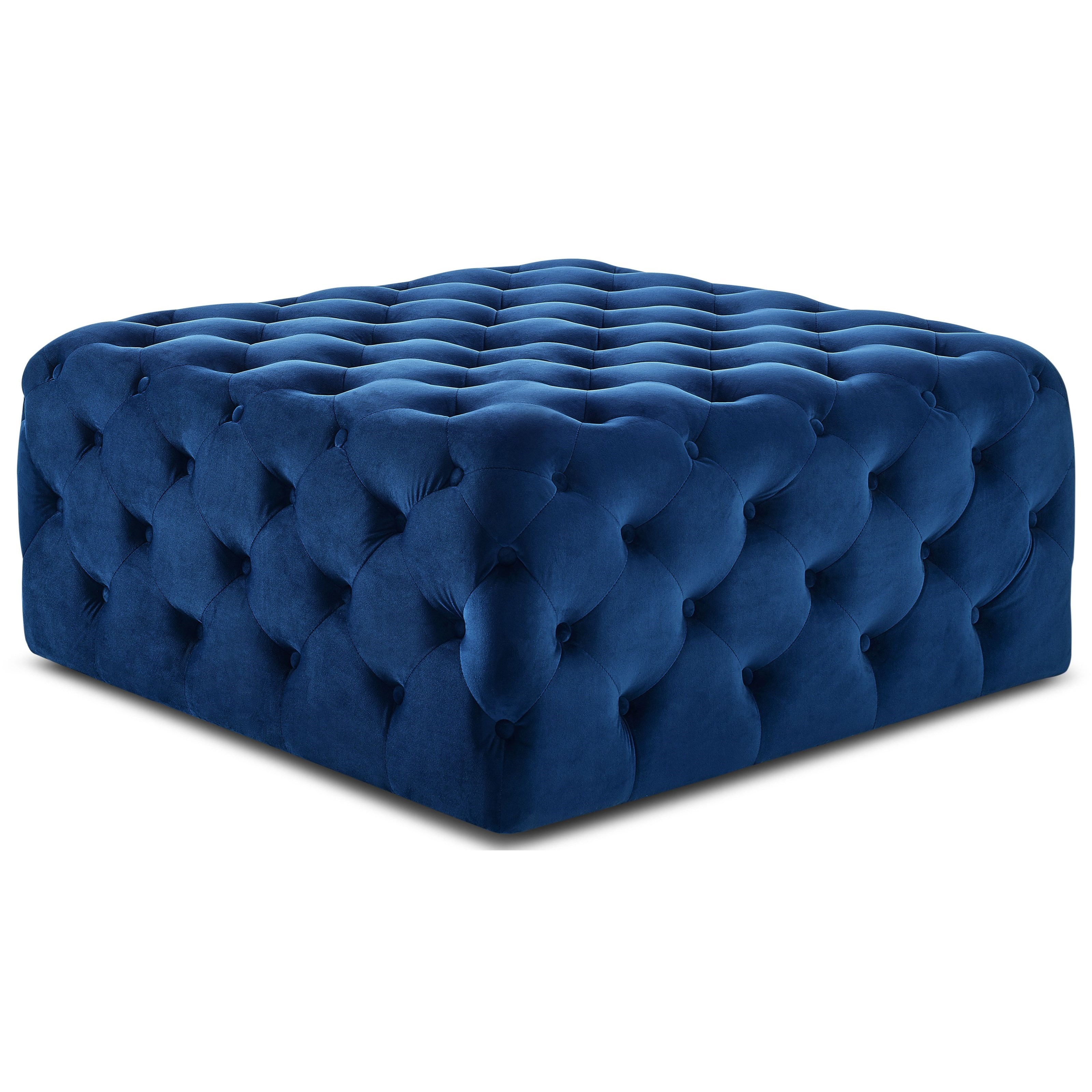 Belham Tufted Ottoman by Steve Silver at Northeast Factory Direct
