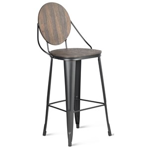 Industrial Bar Height Chair with Scratch Resistant Finish