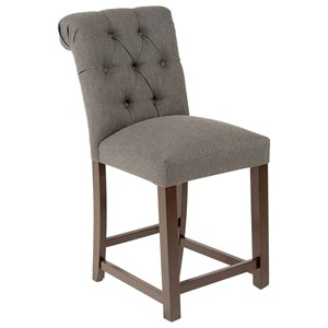 Transitional Tufted Counter Stool