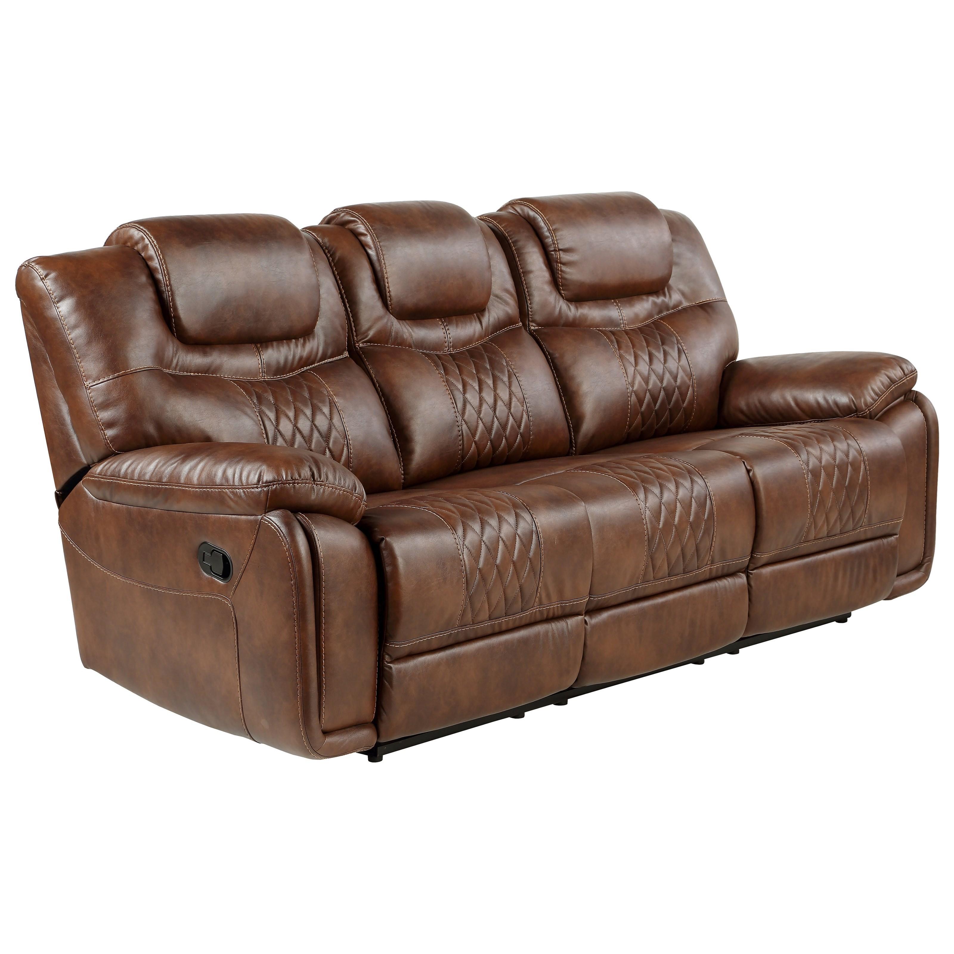 Boardwalk BK Manual Reclining Sofa by Steve Silver at Smart Buy Furniture
