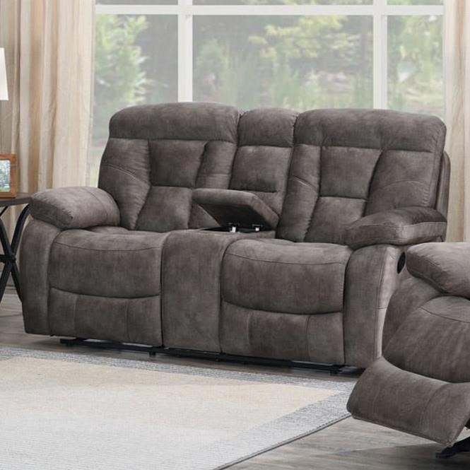 Bogata Recliner Console Loveseat by Steve Silver at Smart Buy Furniture