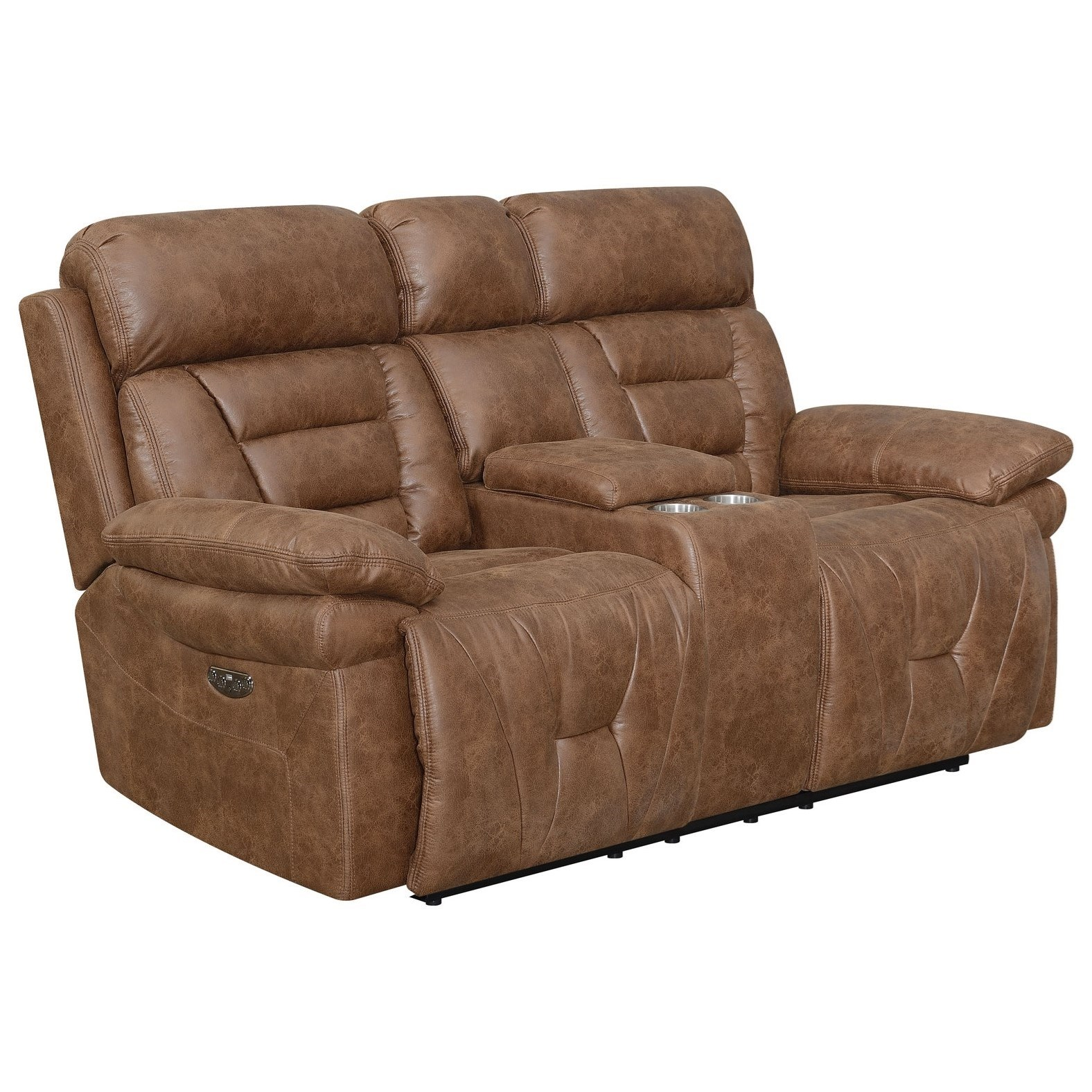 Brock Lay Flat Power Reclining Loveseat by Steve Silver at Standard Furniture