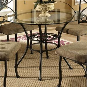 Round Table with Tempered Glass Top