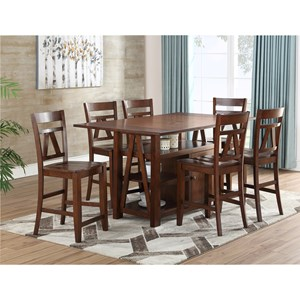 Transitional Counter Height Table and Chair Set