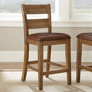 Casual Counter Chair with Upholstered Seat