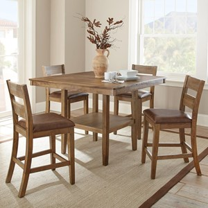 Casual Counter Height 5 Piece Dining Set