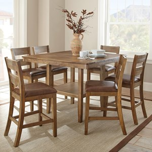 Casual Counter Height 7 Piece Dining Set
