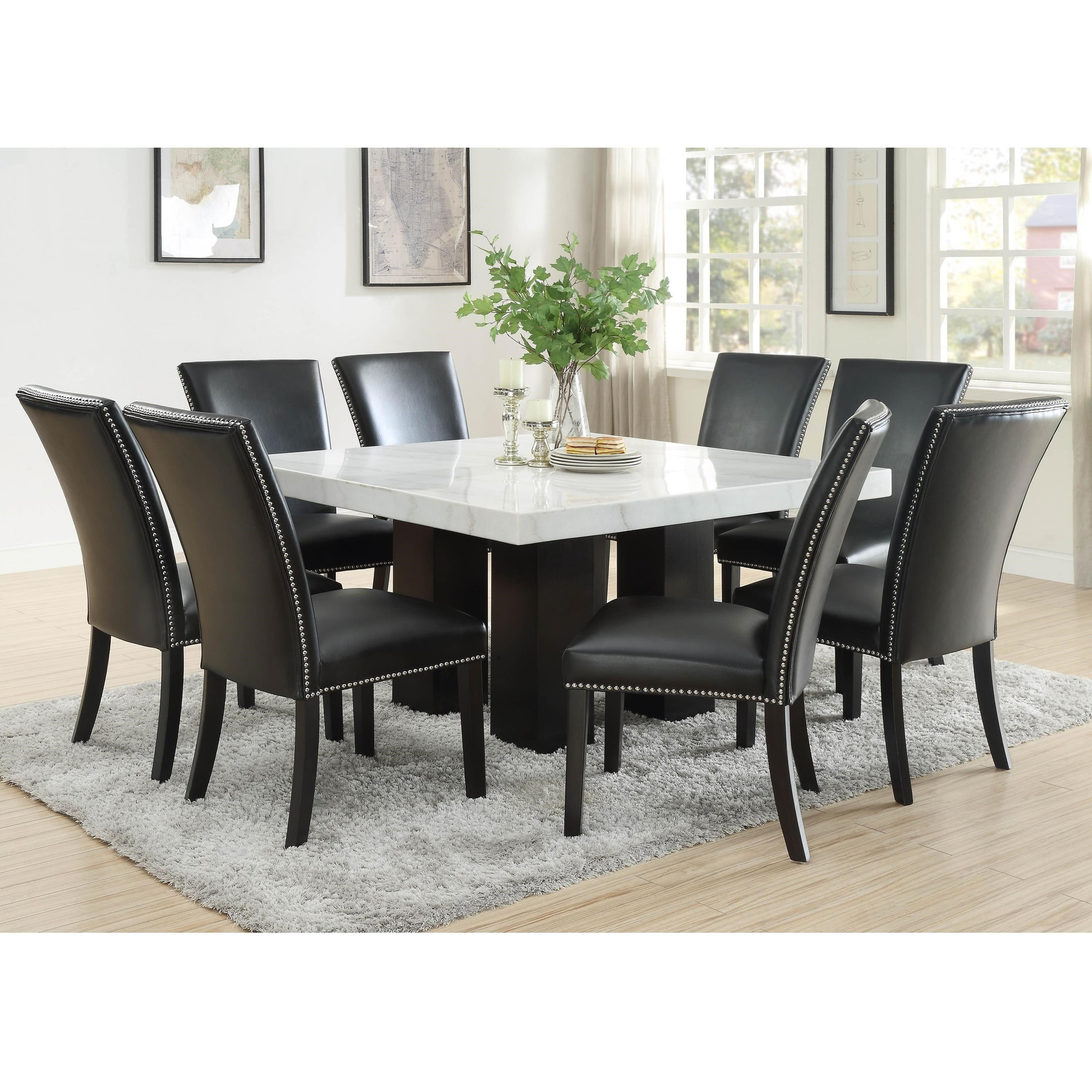 Camila 9 Piece Dining Set by Steve Silver at Standard Furniture