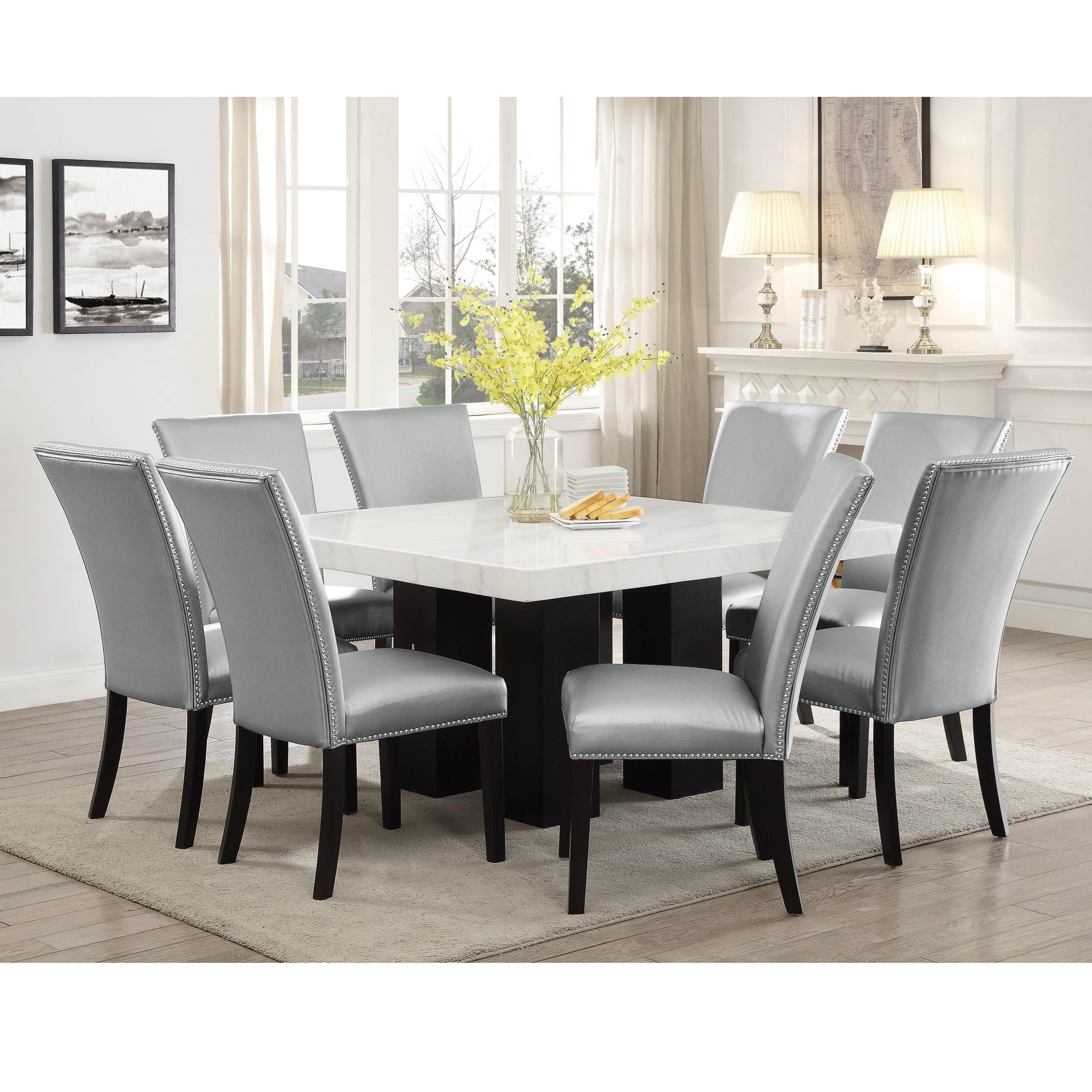 Camila 9 Piece Dining Set by Star at EFO Furniture Outlet