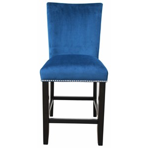 Upholstered Parsons Counter Chair with Nailhead