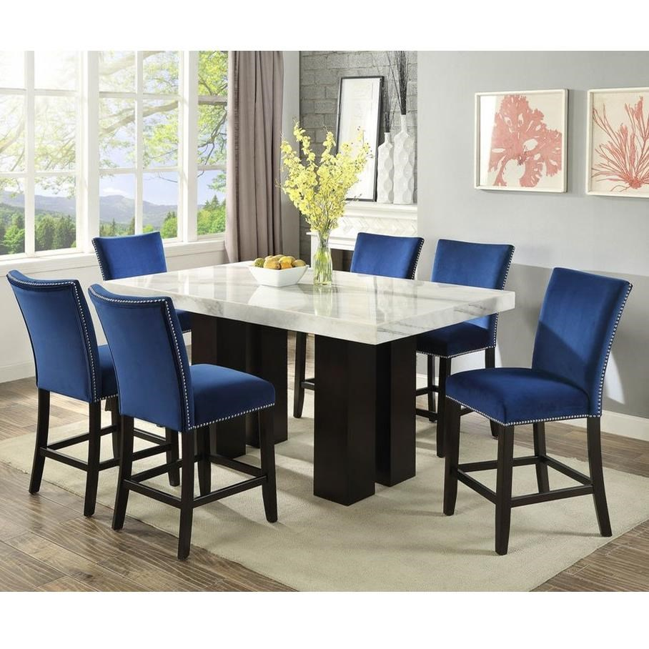 Camila 7 Piece Counter Height Dining Set by Steve Silver at Standard Furniture