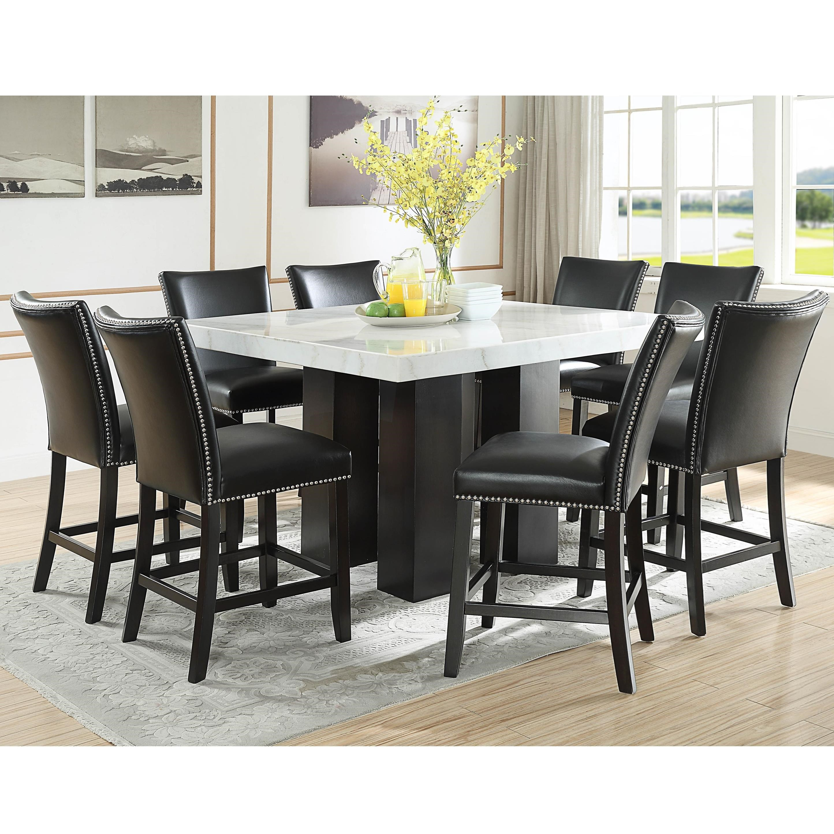 Star Camila 9 Piece Counter Height Dining Set with Marble ...